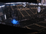 We were some of the first people inside the Barclays Center for Coldplay's show.